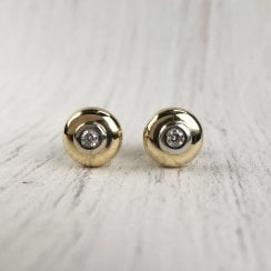 Diamond Doughnut Stud Earrings