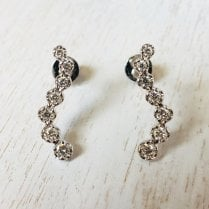 Diamond Ear Climber in White Gold