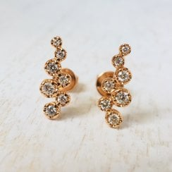 Diamond Ear Climbers in Rose Gold