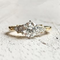 Diamond Engagement Ring with Princess and Triangle Shoulders