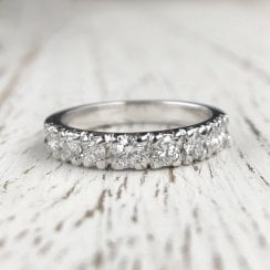 Diamond Half Eternity Band in White Gold