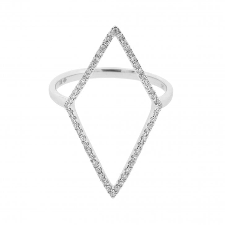 Richard Woo Diamond Lozenge Ring