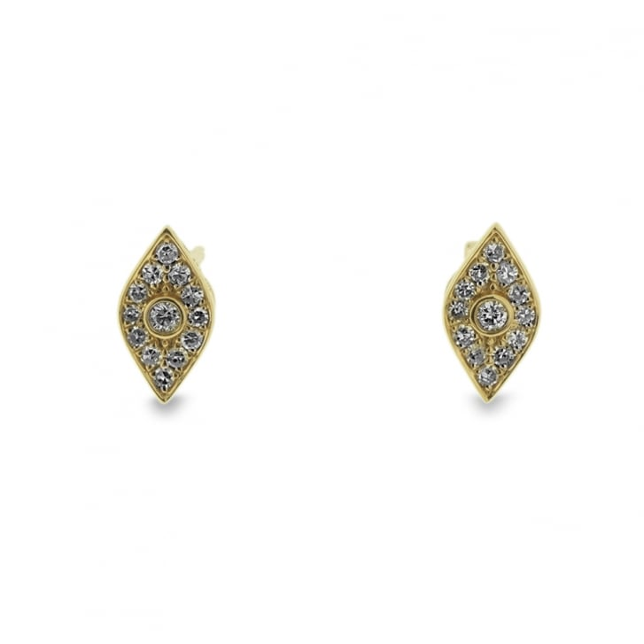 Richard Woo Diamond Rhombus Stud Earrings