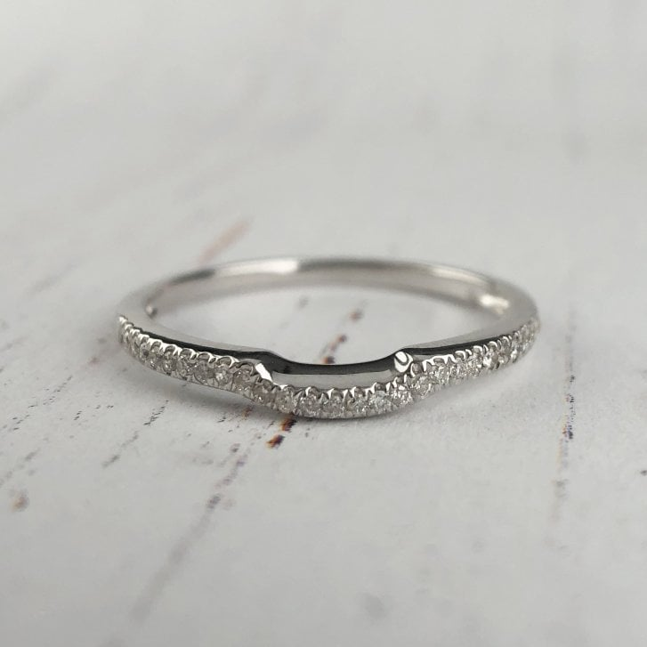 Diamond Shaped Wedding Band to fit an Engagement Ring