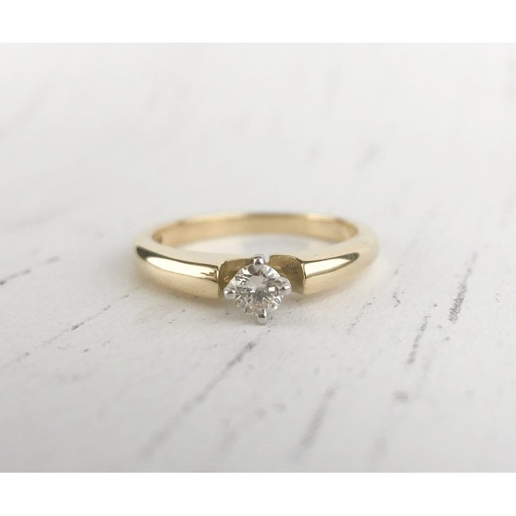Diamond Solitaire Ring with Compass Setting