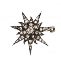 Diamond Star Brooch