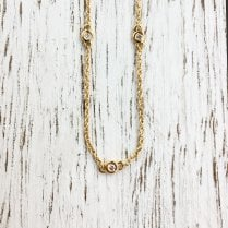 Diamond Station Necklace in Yellow Gold