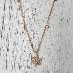 Diamond Sun Necklace