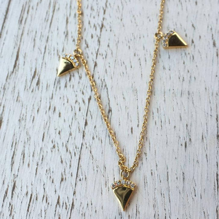 Richard Woo Diamond Triangles Necklace