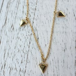 Diamond Triangles Necklace