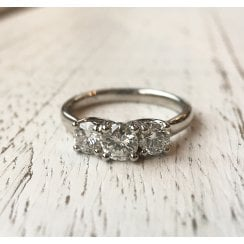 Diamond Trilogy Ring in Platinum