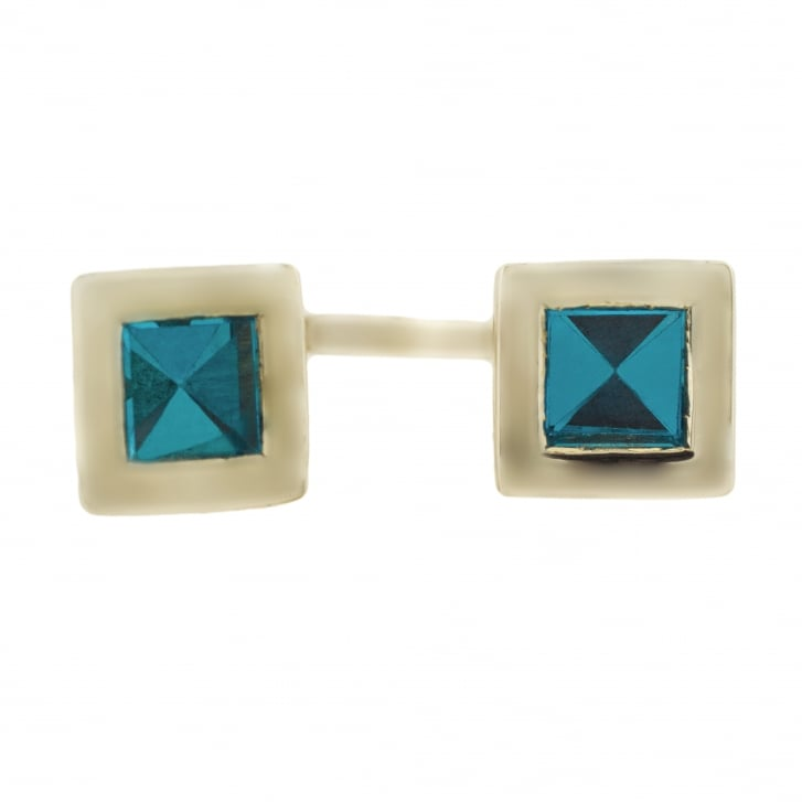 Ella Rose Bull Double Square Topaz Ring