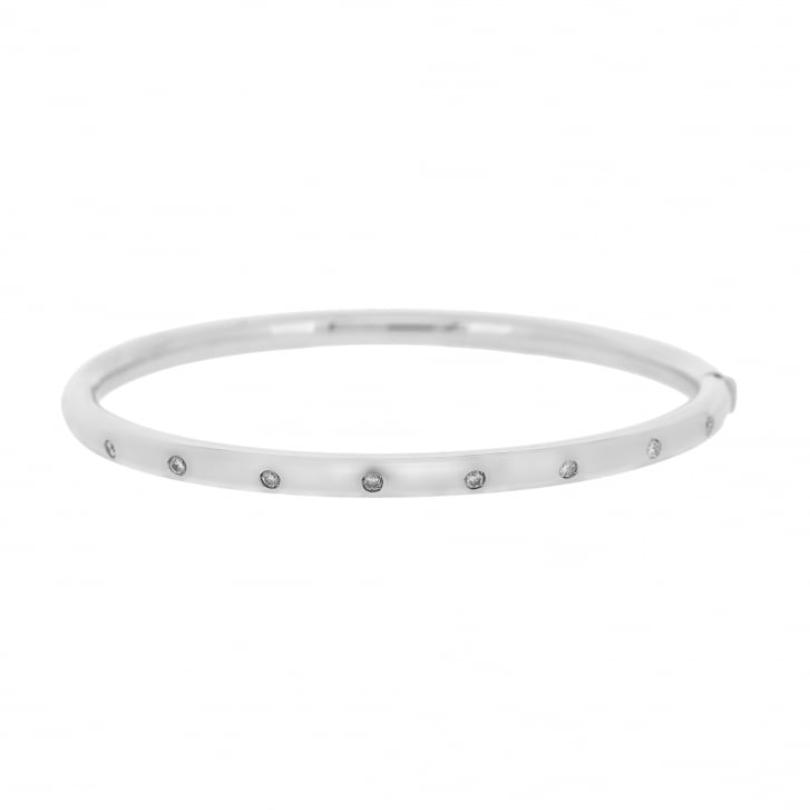 Eight Diamond Gold Bangle