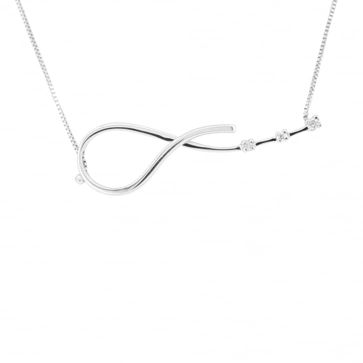 """Embrace"" Diamond Necklet in 18ct White Gold"