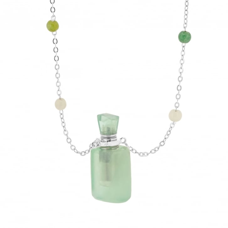 Meli & Moli Energy Bottle Necklace with Carved Fluorite
