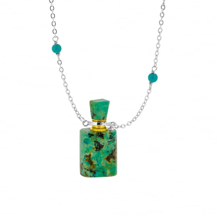 Meli & Moli Energy Bottle Necklace with Carved Turquoise