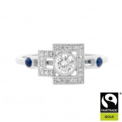 Fairtrade Gold and Recycled Diamond Ring