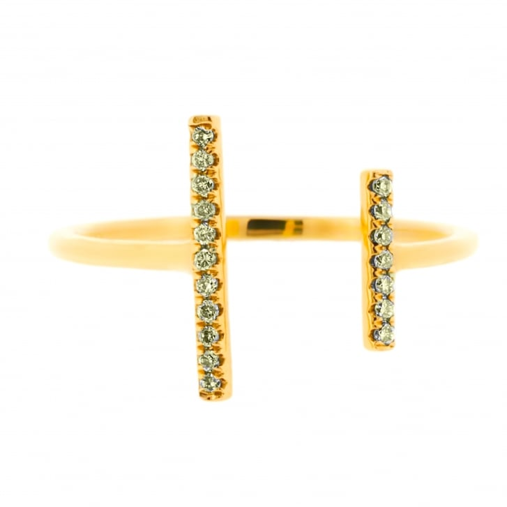 Richard Woo Fancy Diamond Open Two Bar Ring