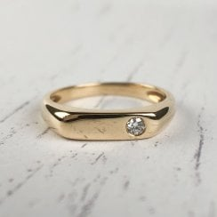 Fine Diamond Signet Ring