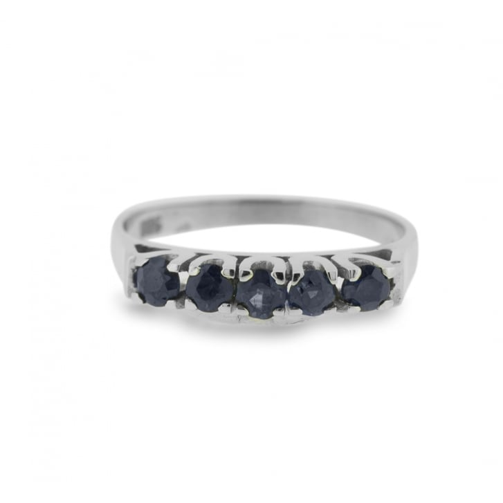 Five Sapphire Claw Set Ring