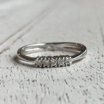 Five Stone Diamond Eternity Diamond Band in White Gold