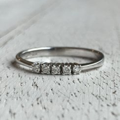 Five Stone Diamond Eternity Diamond Ring in White Gold