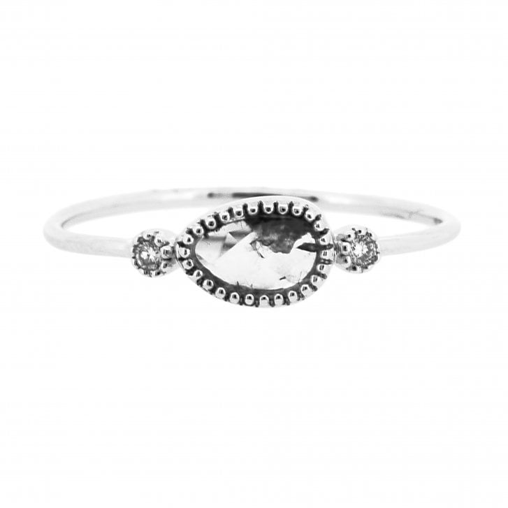Richard Woo Free Form Diamond Trilogy Ring