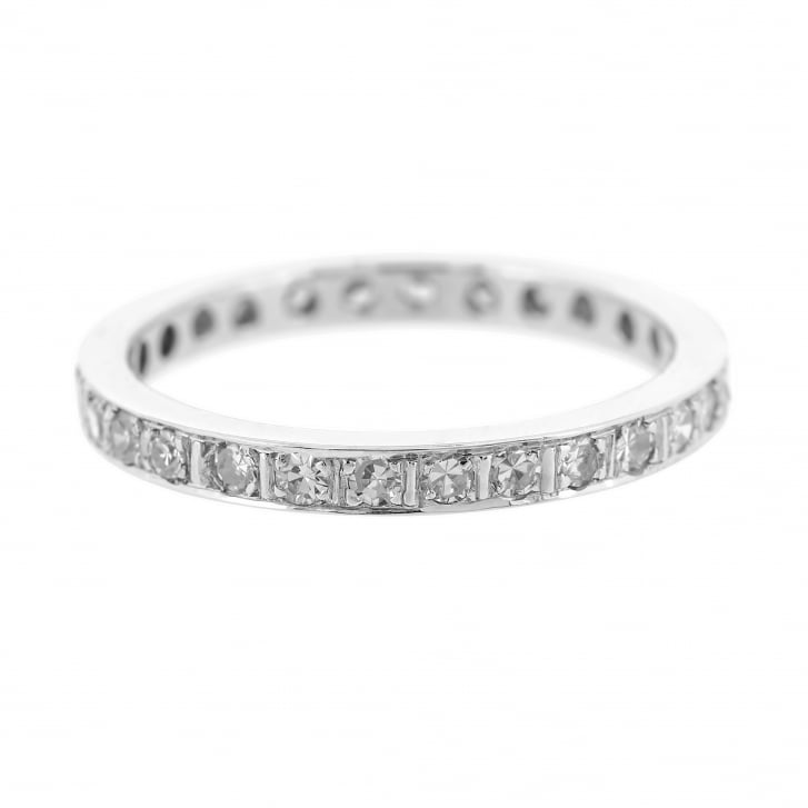 Full Eternity Band Moissanite Set Ring