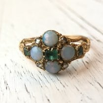 Georgian Emerald and Opal Ring
