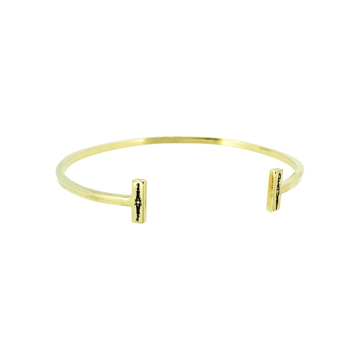 Becky Dockree Gold Plated Bar Cuff with Oxidised Details