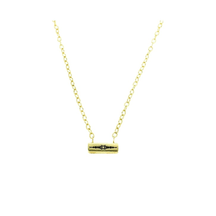 Becky Dockree Gold Plated Bar Necklace
