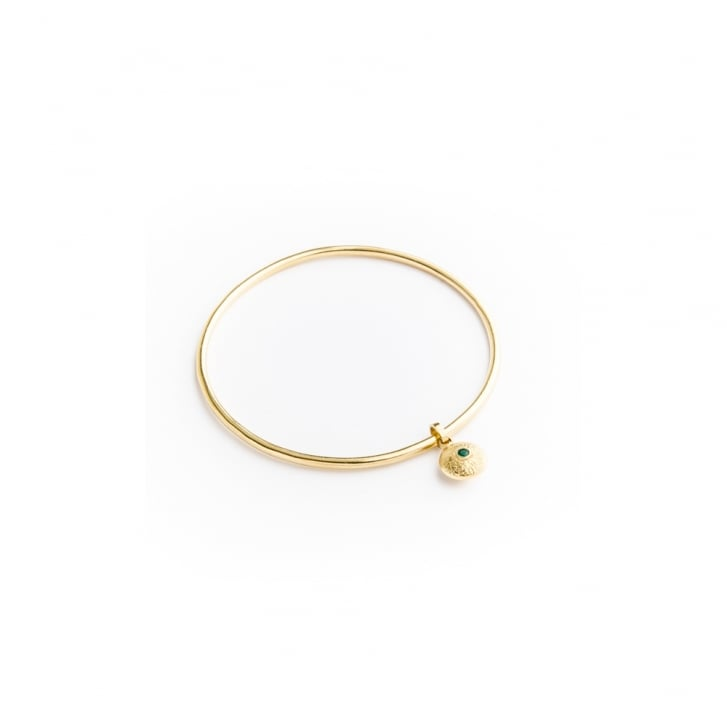 Becky Dockree Gold Plated Silver Dangle Bangle