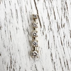 Graduated Diamond Bar Pendant