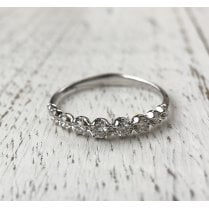 Graduated Diamond Half Eternity Ring