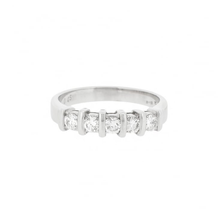 diamond sylvie vintage set engagement white collection ring gold bezel product