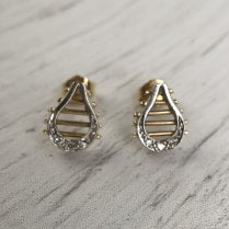 Harp Stud earrings with Diamonds