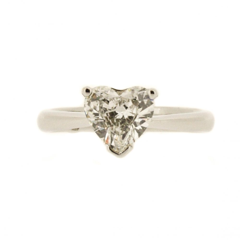 Home – Rings – Engagement Rings – Heart-Shaped Diamond Solitaire ...