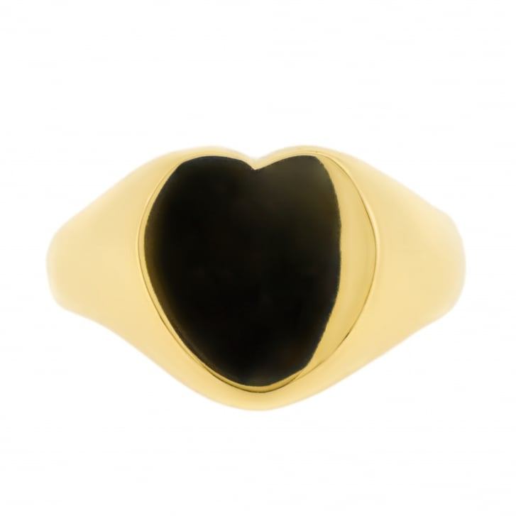 Heart Signet Ring in 9ct Yellow Gold
