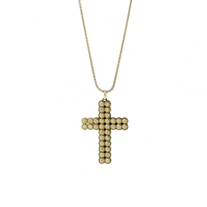 Illusion-set Diamond Cross pendant