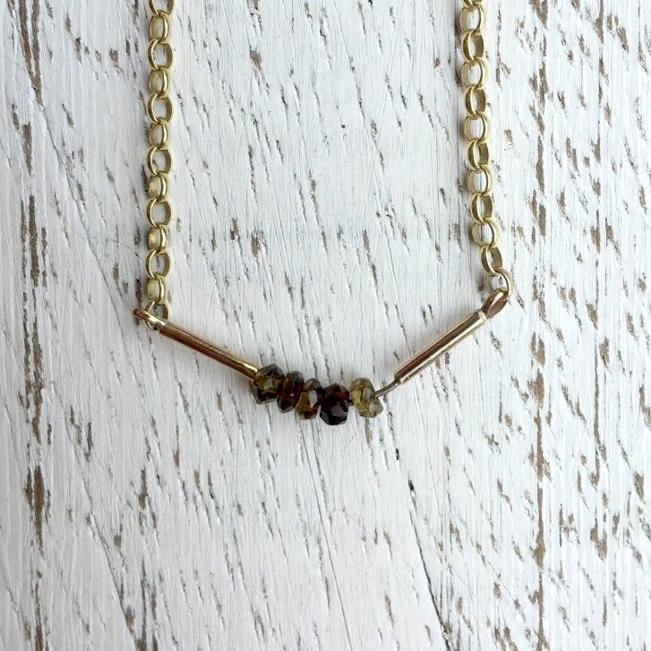 Issy White Tourmaline Bar Necklace