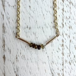 Tourmaline Bar Necklace
