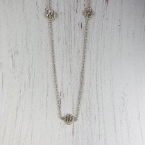 Tubes and Grains Silver Necklace