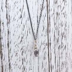 Karen Morrison Rock Crystal Drop On Silver chain