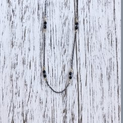 Spinel and hematite necklace