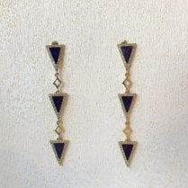 Lapis lazuli Traingle Earrings