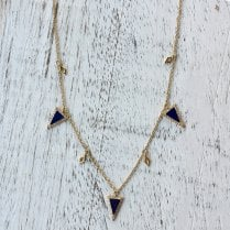 Lapis Lazuli Triangles Necklace
