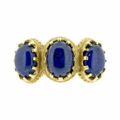 Lapis Lazuli Trilogy Ring in Yellow Gold