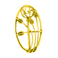 Large Oval Floral Wire work Brooch