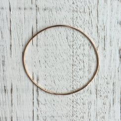 1.5mm Rose Gold Wire Bangle