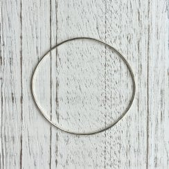 1.5mm White Gold Wire Bangle